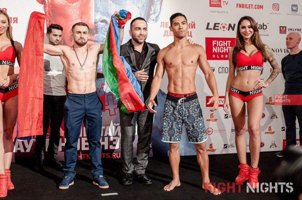 FIGHT NIGHTS GLOBAL 64. Weigh-In results