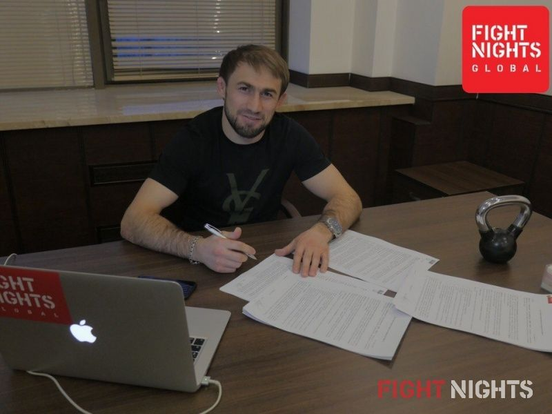 Али Багаутинов подписал контракт с FIGHT NIGHTS GLOBAL