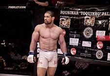 "Rousimar Palhares:""I respect the champ very much. A great fighter overall, had the chance to get a close view on his skills. I will continue to work my way up and wait for my chance. I will take it and become a champion""."