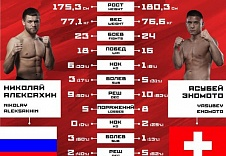 Инфографика. FIGHT NIGHTS GLOBAL 61.